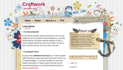 craftwork blogger template btemplates