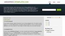 Greenpress Blogger Template
