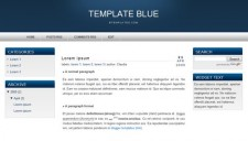 Template Blue Blogger Template
