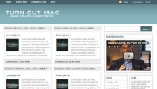 Turn Out Mag Blogger Template