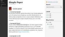 Simple Paper Blogger Template