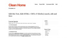 Clean Home Blogger Template
