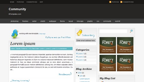 Community - Template para Blogger