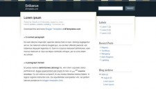 Brilliance Blogger Template