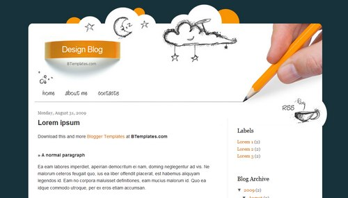 Design Blog Blogger template - BTemplates: btemplates.com/2009/blogger-template-design-blog