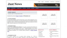 Just News Blogger Template