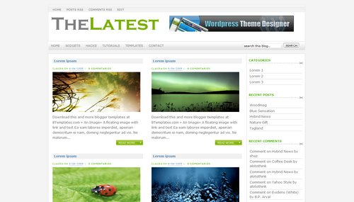 TheLatest - Template para Blogger