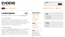Evidens (White) Blogger Template
