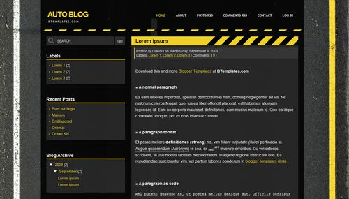 Automotive Blogger Templates Auto Blog Blogger template - BTemplates