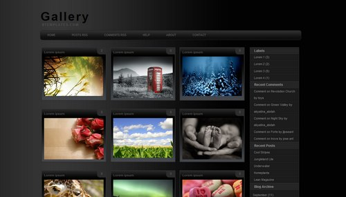 Gallery Blogger template - BTemplates