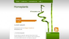 Homeplants Blogger Template