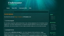 Underwater Blogger Template