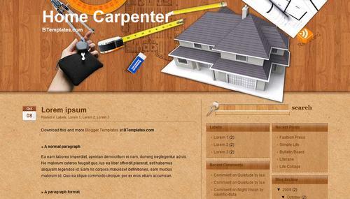 Home Carpenter Blogger template - BTemplates