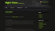 Night Vision Blogger Template