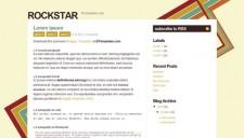 Rockstar Blogger Template