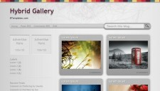 Hybrid Gallery Blogger Template
