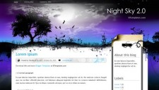 Night Sky 2.0 Blogger Template