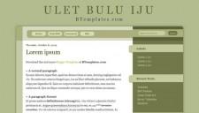 Ulet bulu iju Blogger Template