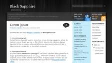 Black Sapphire Blogger Template