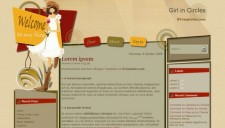 Girl in Circles Blogger Template