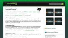 GreenMag Blogger Template