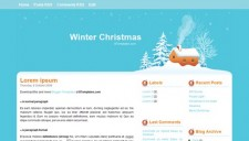 Winter Christmas Blogger Template