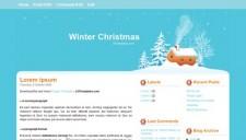 Winter Christmas Blogger Template