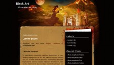 Black Art Blogger Template