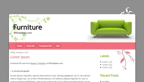 Furniture Blogger Templates Recommended Furniture Blogger Templates - Blogger templates #165