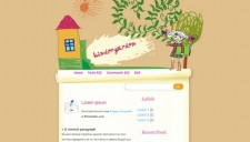 Kinder Garden Blogger Template
