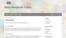 Meta-morphosis Colors Blogger Template