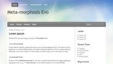 Meta-morphosis Evo Blogger Template