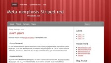 Meta-morphosis Red Blogger Template