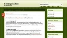 Springloaded Blogger Template