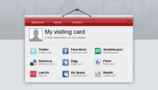 Visiting Card Blogger Template