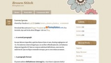 Brown Stitch Blogger Template