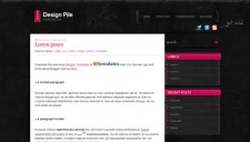 Design Pile Pink Blogger Template