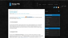 Design Pile Blue Blogger Template