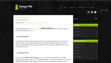 Design Pile Green Blogger Template