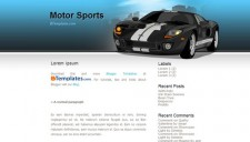 Motor Sports Blogger Template