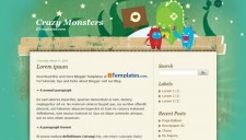 Crazy Monsters Blogger Template