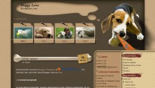 Doggy Love Blogger Template