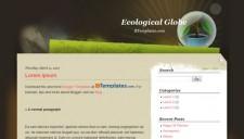 Ecological Globe Blogger Template