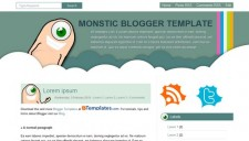 Monstic Blogger Template