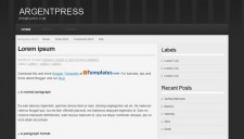Argentpress Blogger Template