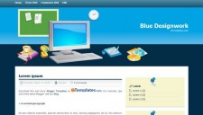 Blue Designwork Blogger Template