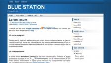 Blue Station Blogger Template