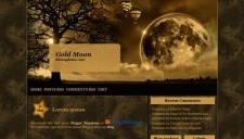 Gold Moon Blogger Template