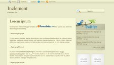 Inclement Blogger Template