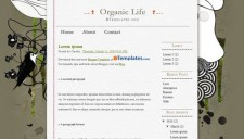 Organic Life Blogger Template